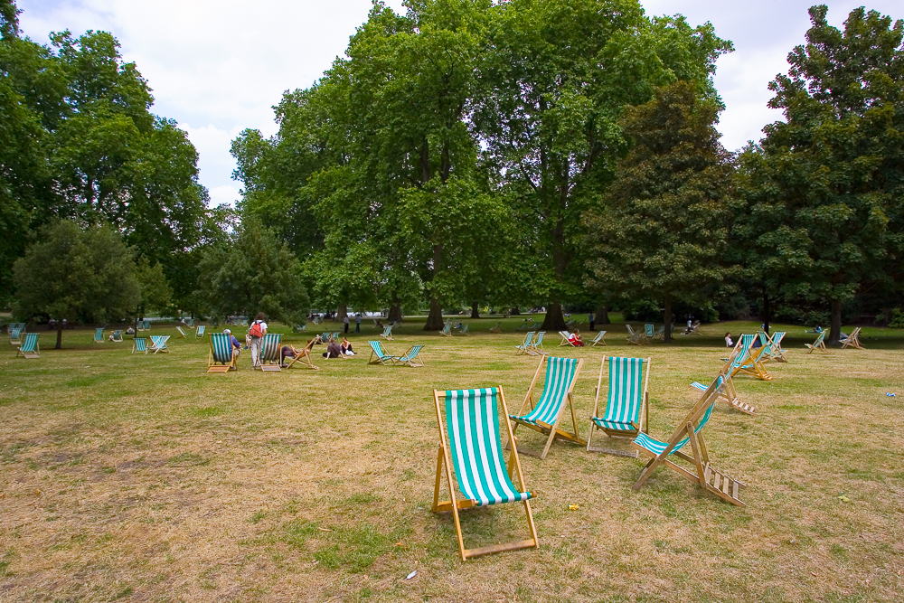 Deck Chairs in St. James Park, London